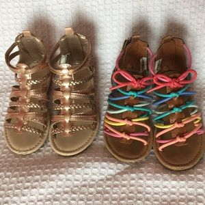 ☀️Caters Size 7 Toddlers Gladiator Sandals☀️